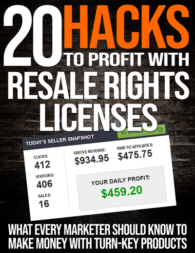 20 Hack To Profit With Resale Rights Licenses