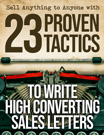 Sell Anything To Anyone with 23 Proven Tactics